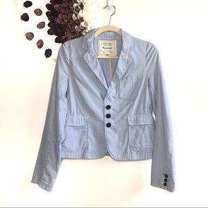 Cartonnier Blue & White Striped Lightweight Blazer